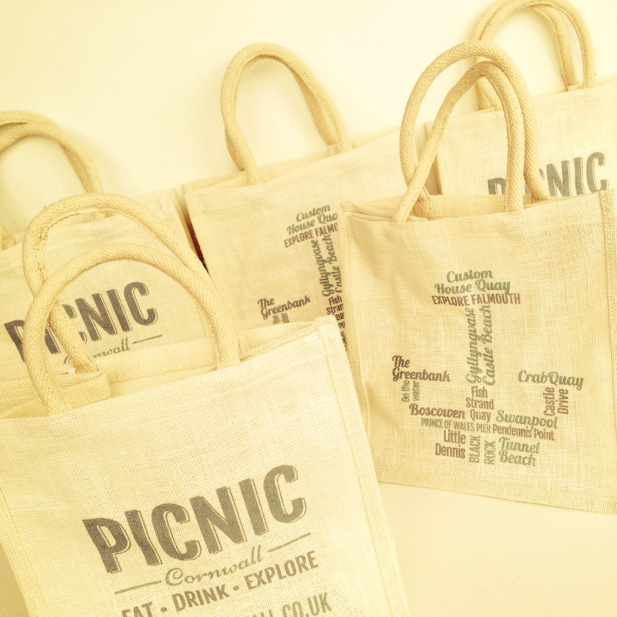 Picnic Cornwall Jute Bag