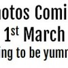Photos coming 1st March