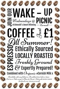 Wake up Wednesdays at Picnic Cornwall