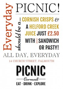 Everyday should be a picnic!  Picnic Cornwall Falmouth